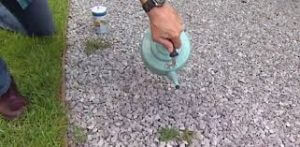 boiling water to kill weeds in your garden